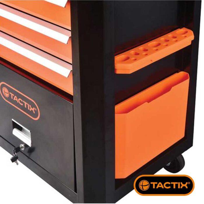 Количка за алати TACTIX со 7 фиоки