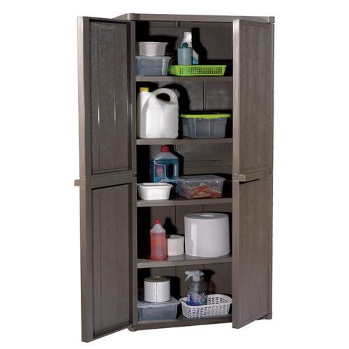 Шкафче-за-складирање-дрвен-ефект