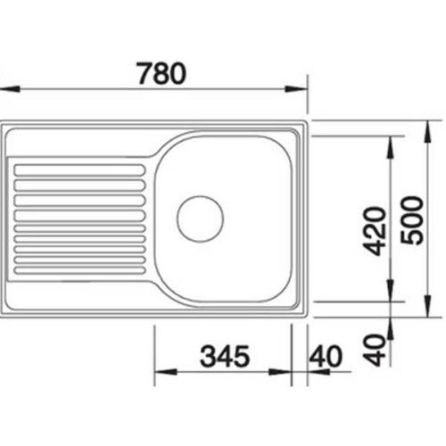 Садопер BLANCO TIPO 45 S Compact