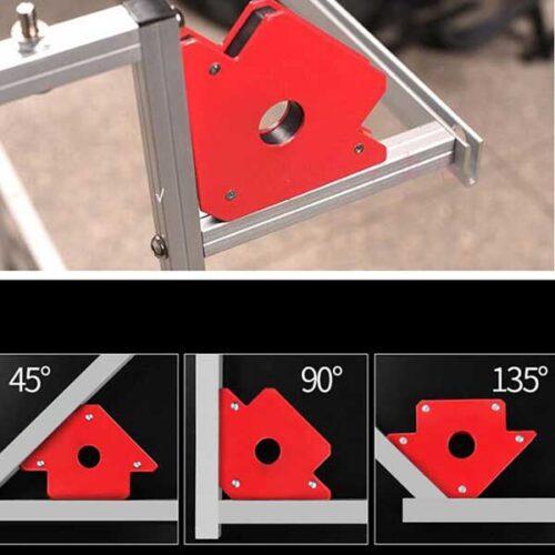 Повеќе аголен магнетен држач за заварување под агол