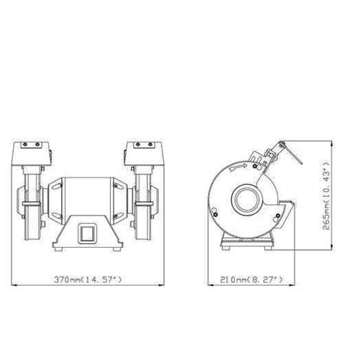 Двострана столна брусилка METABO DS 150