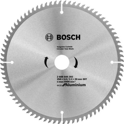 Пила за Алуминиум BOSCH 250x3,0x30mm 80z ECOLINE