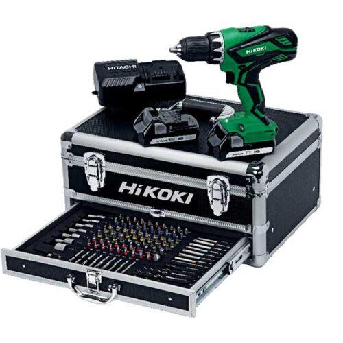 Акумулаторска дупчалка HIKOKI DS18DJL (Со 100 парчиња алат.)