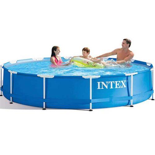 INTEX Базен со конструкција 366 x 76 cm и филтер пумпа