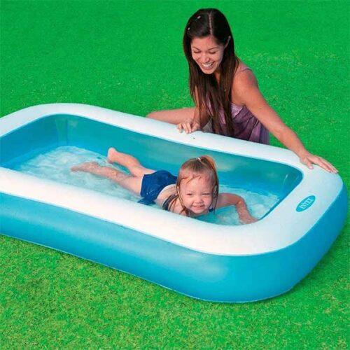 INTEX базен 166х100х28 cm со филтер и пумпа