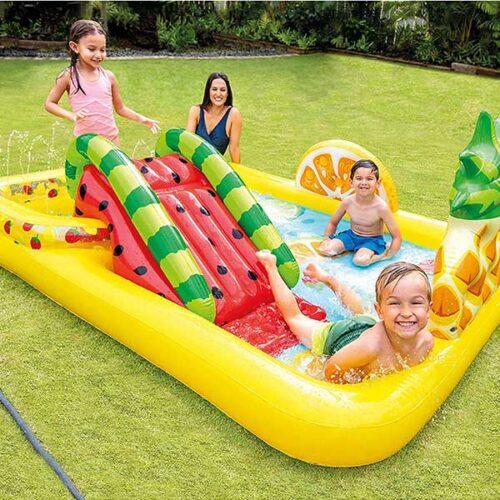 INTEX детски базен фрути воден центар 244x191x91 cm