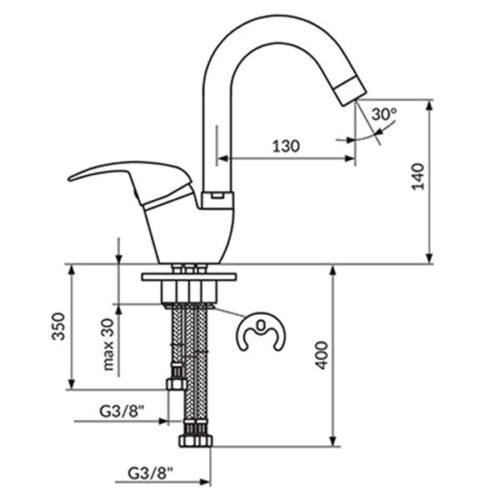 Еднорачна батерија за садопер ROSAN KING J382213