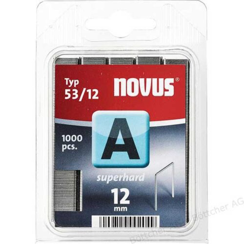 Муниција за рачна хефталка Novus A type 53/12 1000 пар.