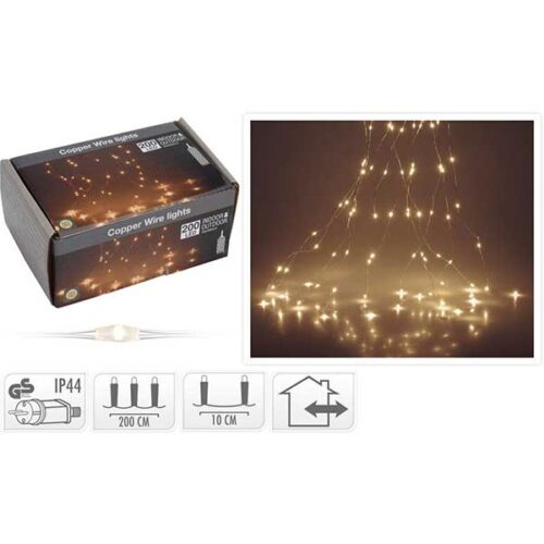 Новогодишни сијалички Micro LED 200 WW 10x200cm