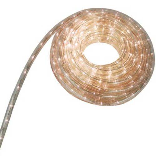 Новогодишно црево Warm White LED 12m+1.5m