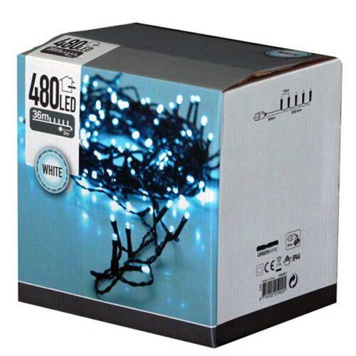 Новогодишни сијалички LED 480 8 mm cold white 39 m.