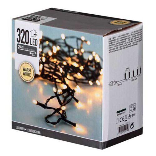 Новогодишни сијалички LED 320 Warm White 27 m.