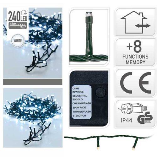 Новогодишни сијалички LED 240 8 mm cold white 21 m.