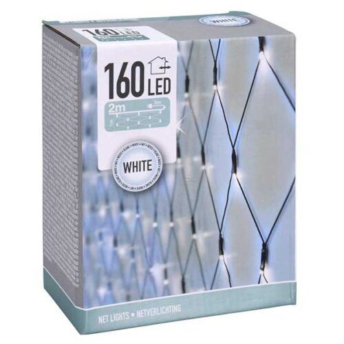 Новогодишни сијалички мрежа LED 160 cold white 2x1 m