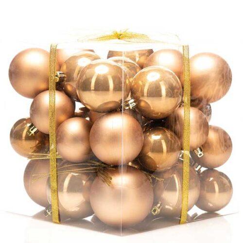 Новогодишни лампиони Бронза Сет од 36 парчиња PVC