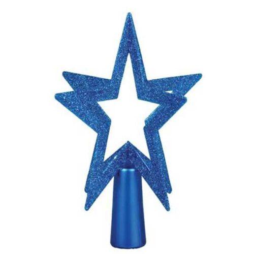 Новогодишен врв за елка Темно син ѕвезда 200 mm