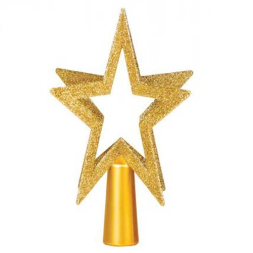 Новогодишен врв за елка златен ѕвезда 200 mm
